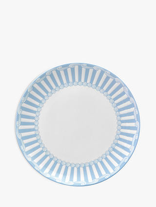Buy Little Venice Cake Company Coupe Plate, Blue/White, 21cm Online at johnlewis.com