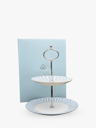Little Venice Cake Company Striped 2-Tier Cake Stand
