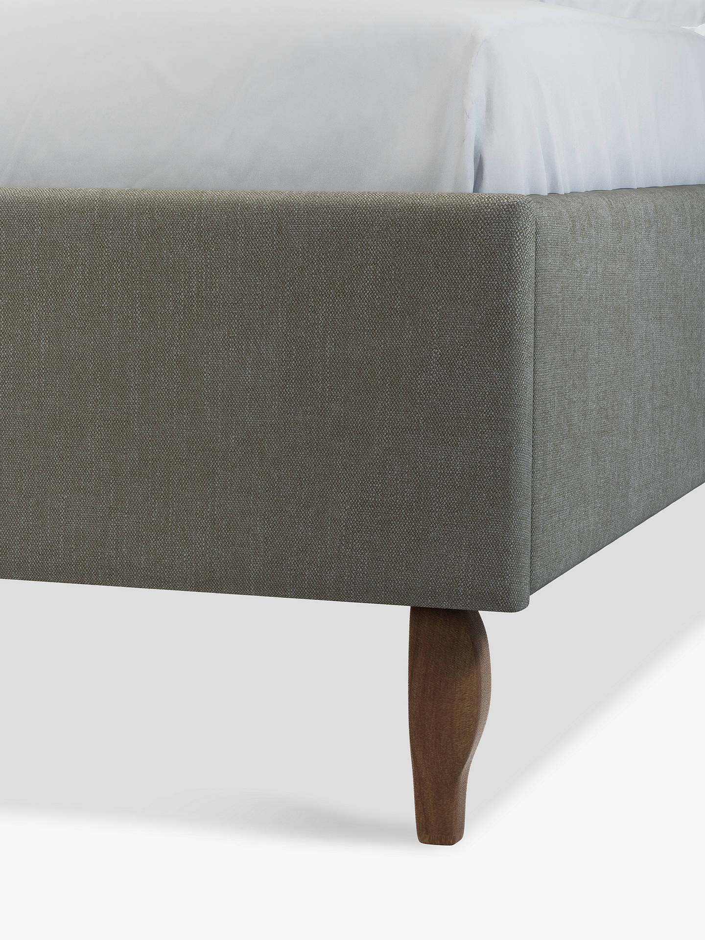 Buy John Lewis & Partners Charlotte Upholstered Bed Frame, Double, Erin Grey Online at johnlewis.com