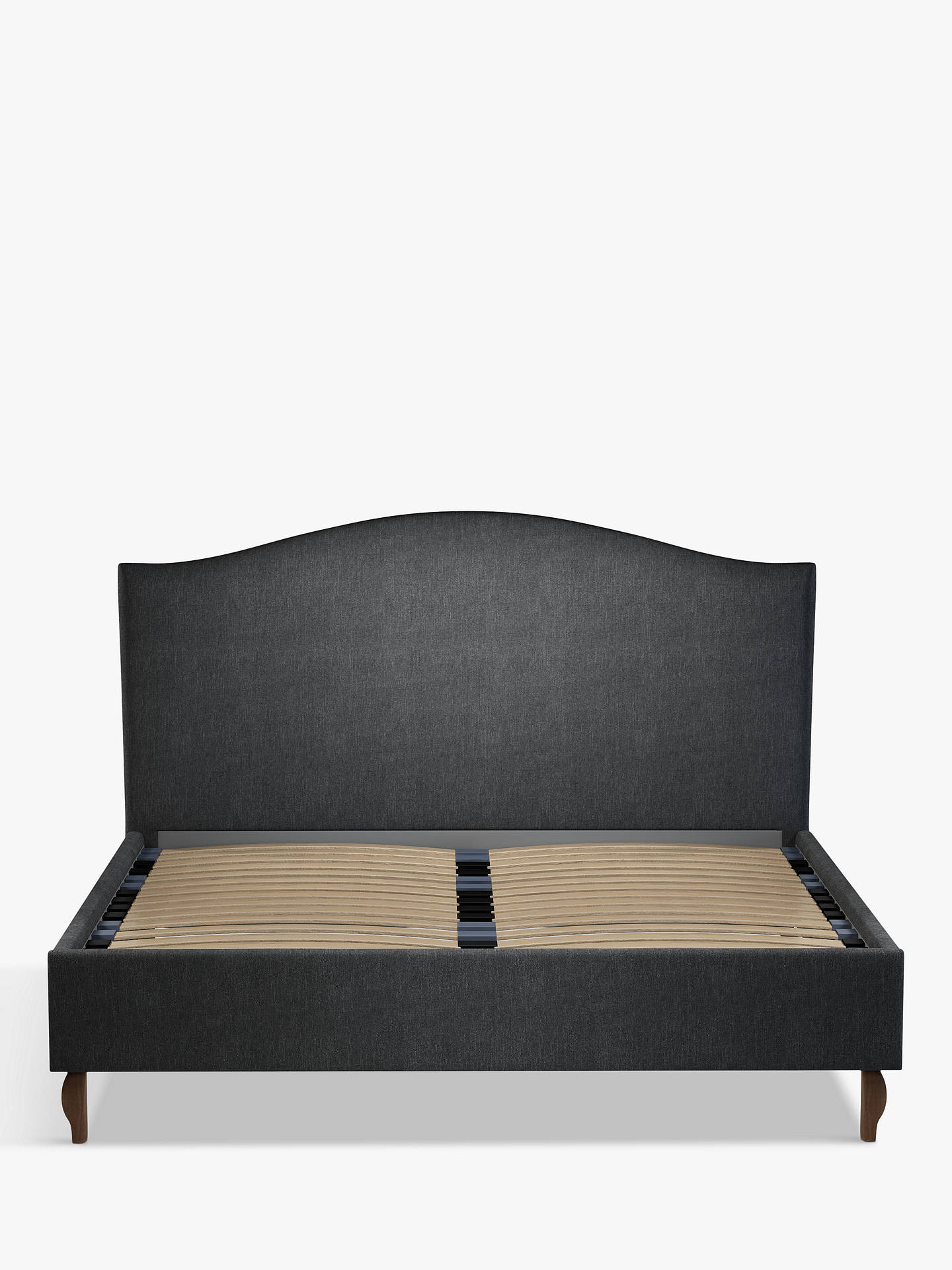 Buy John Lewis & Partners Charlotte Upholstered Bed Frame, Super King Size, Erin Charcoal Online at johnlewis.com