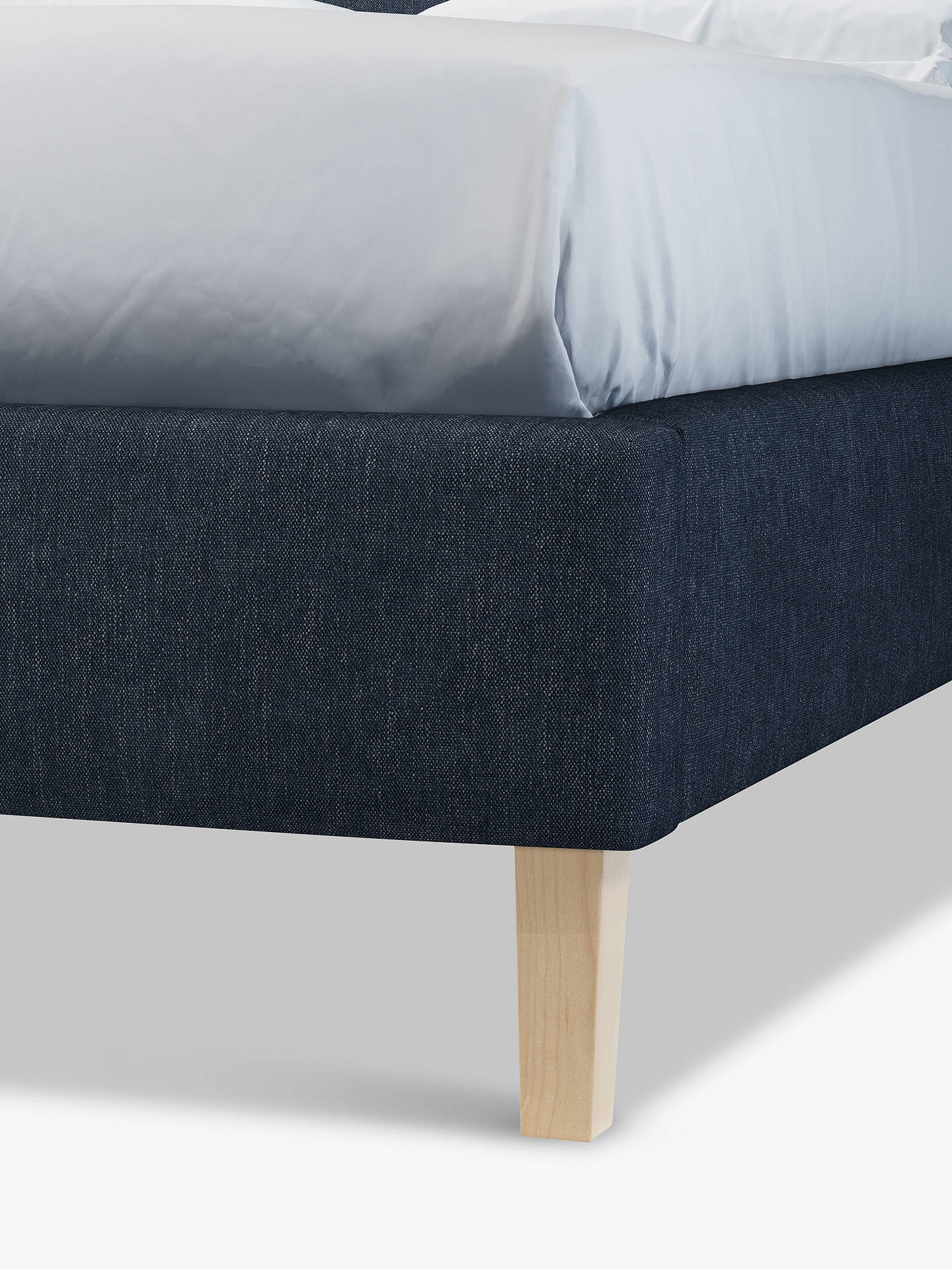 Buy John Lewis & Partners Emily Upholstered Bed Frame, Small Double, Erin Midnight Online at johnlewis.com
