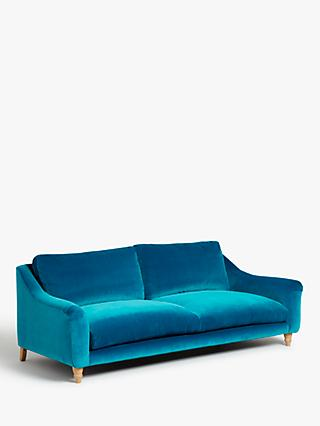Schmoozer Grand 4 Seater Sofa by Loaf at John Lewis, Clever Velvet Pacific