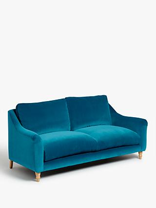Schmoozer Medium 2 Seater Sofa by Loaf at John Lewis, Clever Velvet Pacific