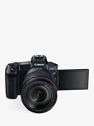 "Canon EOS R Compact System Camera with RF 24-105mm IS USM Lens, 4K Ultra HD, 30.3MP, Wi-Fi, Bluetooth, OLED EVF, 3.1"" Vari-Angle Touch Screen with EF Mount Adapter"