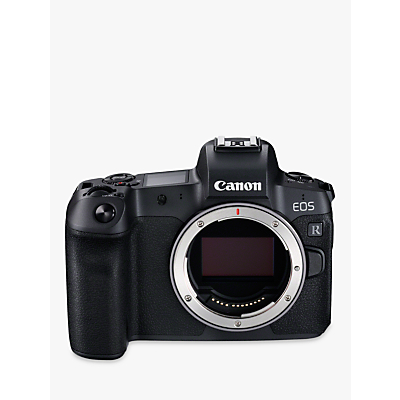 Canon EOS R Compact System Camera, 4K Ultra HD, 30.3MP, Wi-Fi, Bluetooth, OLED EVF, 3.1 Vari-Angle Touch Screen with EF Mount Adapter, Body Only