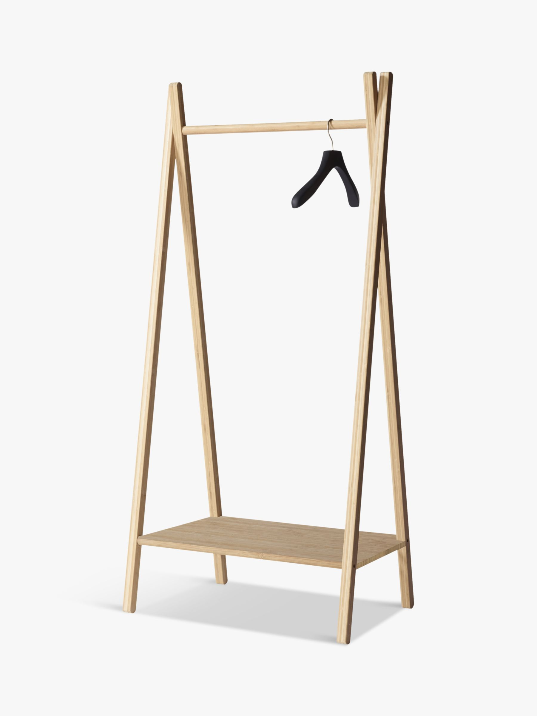 House by John Lewis Bamboo Clothes Rail with Shelf