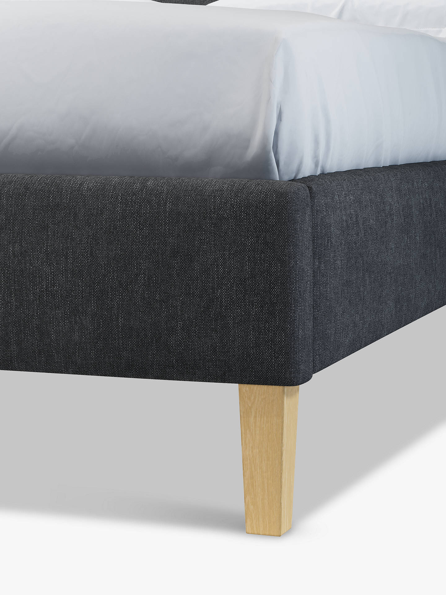 Buy John Lewis & Partners Grace Upholstered Bed Frame, Double, Erin Charcoal Online at johnlewis.com
