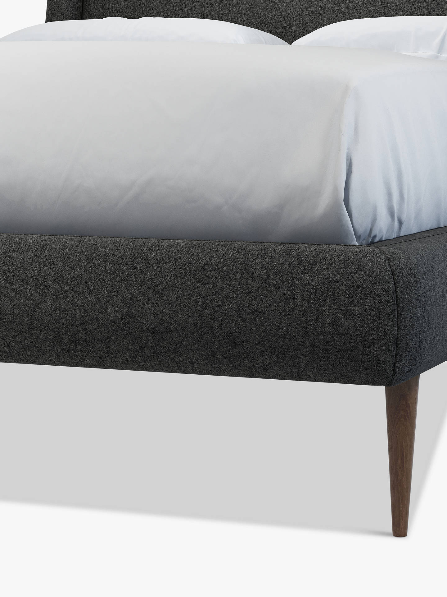 Buy John Lewis & Partners Mid-Century Sweep Upholstered Bed Frame, Double, Saga Charcoal Online at johnlewis.com
