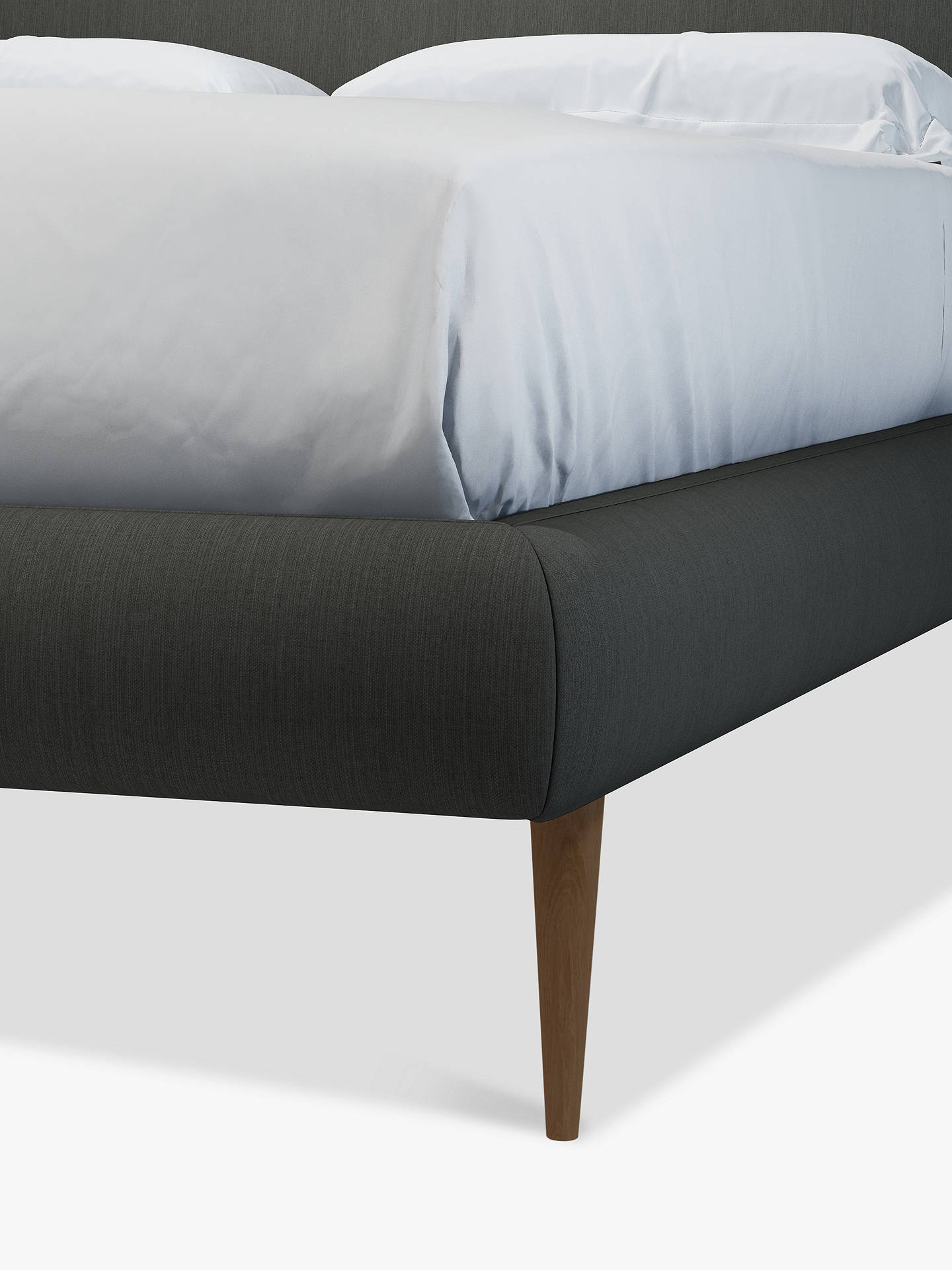 Buy John Lewis & Partners Mid-Century Sweep Upholstered Bed Frame, King Size, Topaz Charcoal Online at johnlewis.com