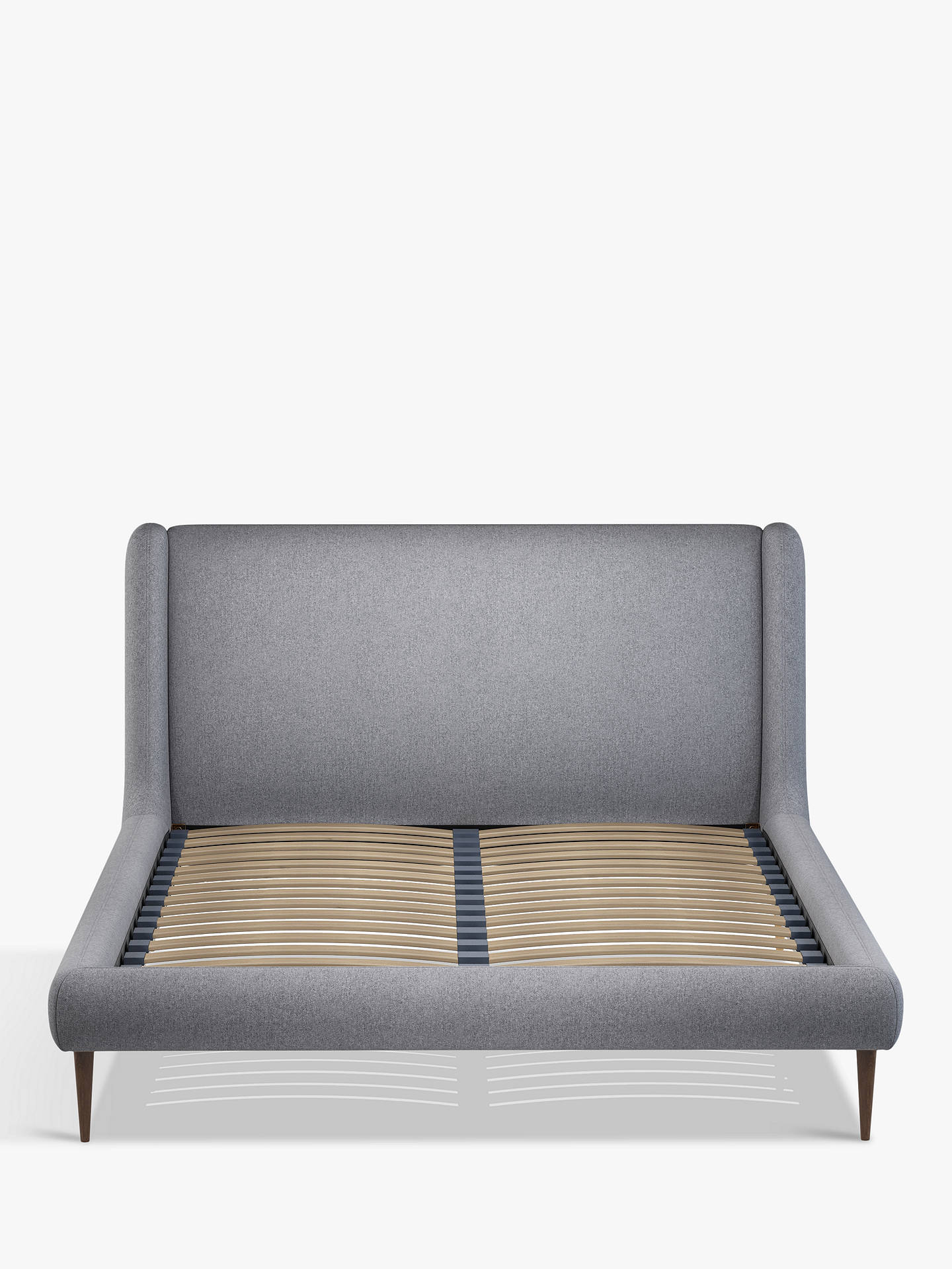 Buy John Lewis & Partners Mid-Century Sweep Upholstered Bed Frame, Double, Saga Grey Online at johnlewis.com