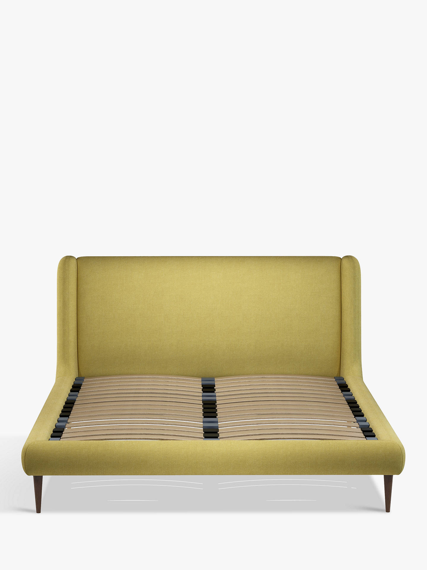 Buy John Lewis & Partners Mid-Century Sweep Upholstered Bed Frame, King Size, Erin Citrine Online at johnlewis.com