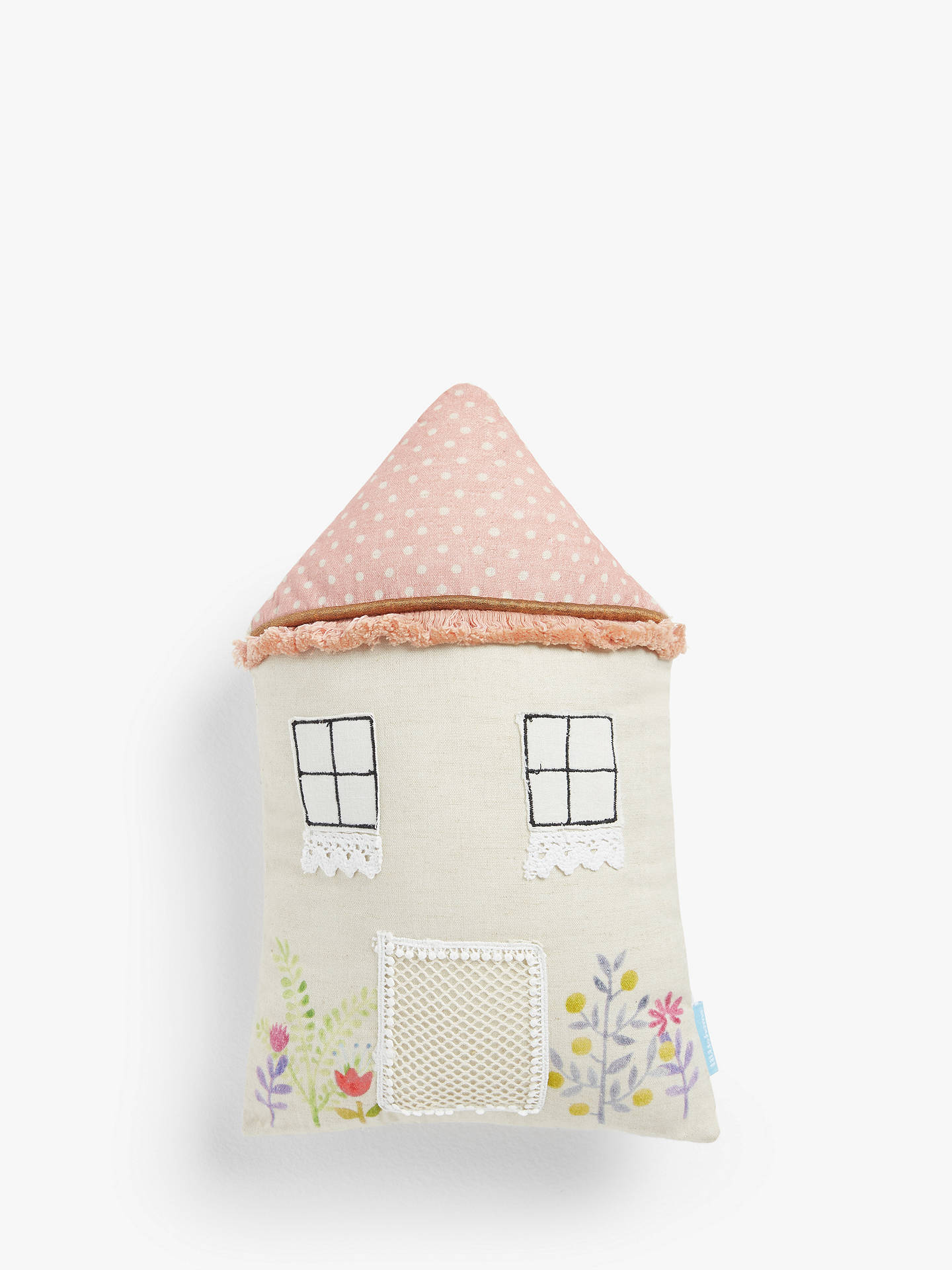 Buy little home at John Lewis Fairy House Cushion, Multi Online at johnlewis.com