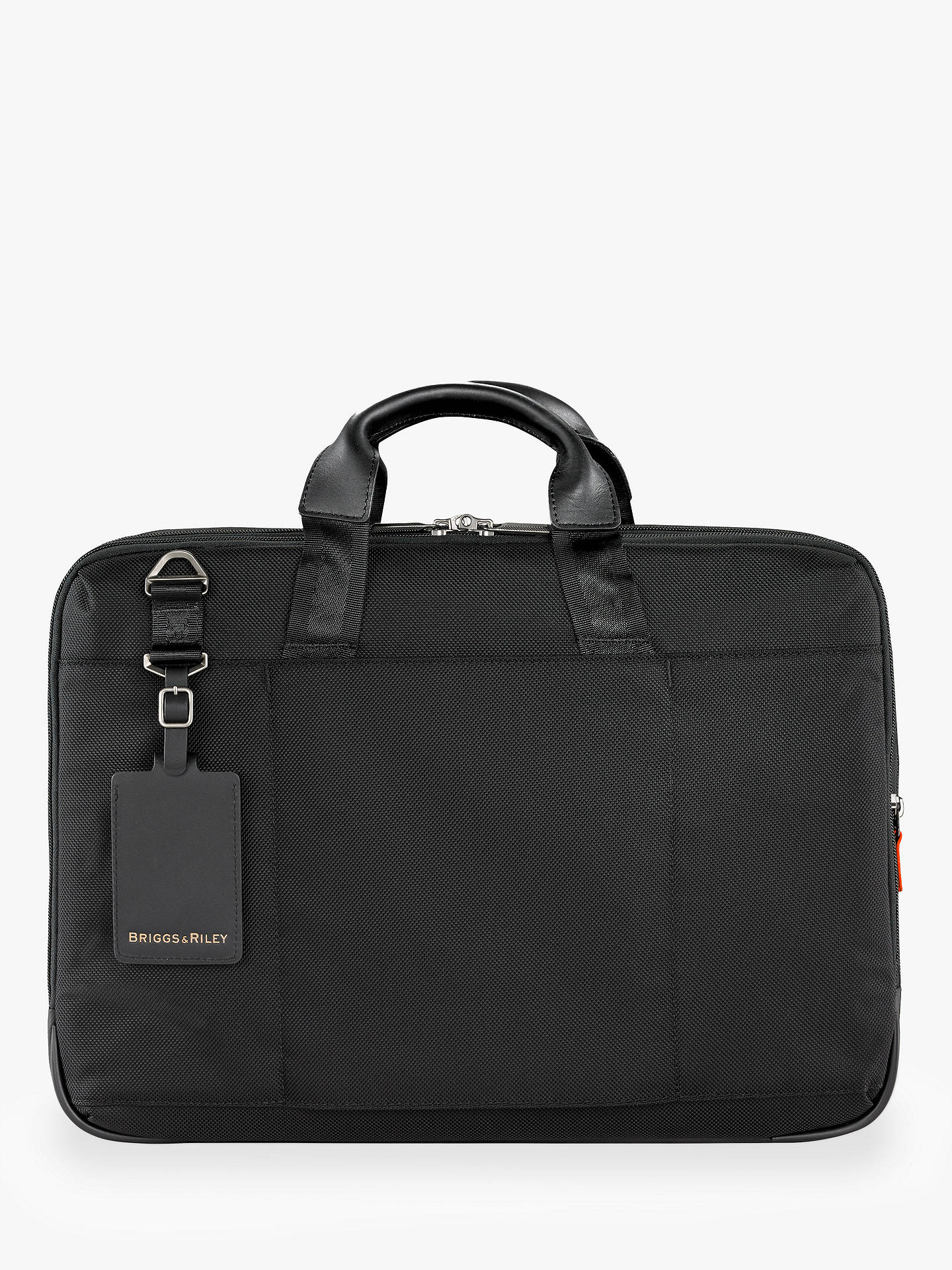 BuyBriggs & Riley AtWork Large Expandable Brief, Black Online at johnlewis.com