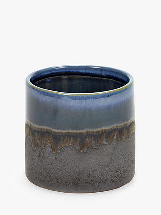 Buy Serax Misty Glazed Pot, Blue Online at johnlewis.com