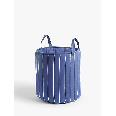 little home at John Lewis Striped Storage Basket, Blue