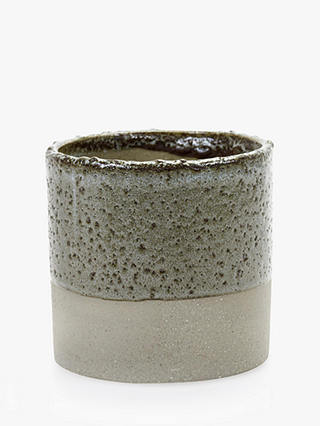 Buy Serax Cylinder Glazed Pot, Grey/Brown Online at johnlewis.com