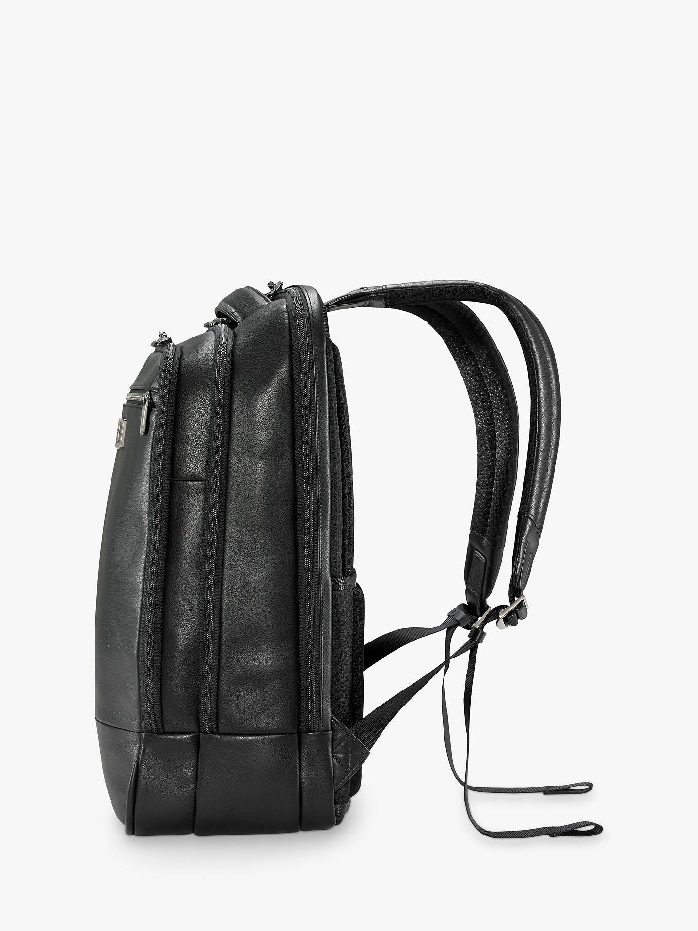 BuyBriggs & Riley AtWork Medium Leather Backpack, Black Online at johnlewis.com