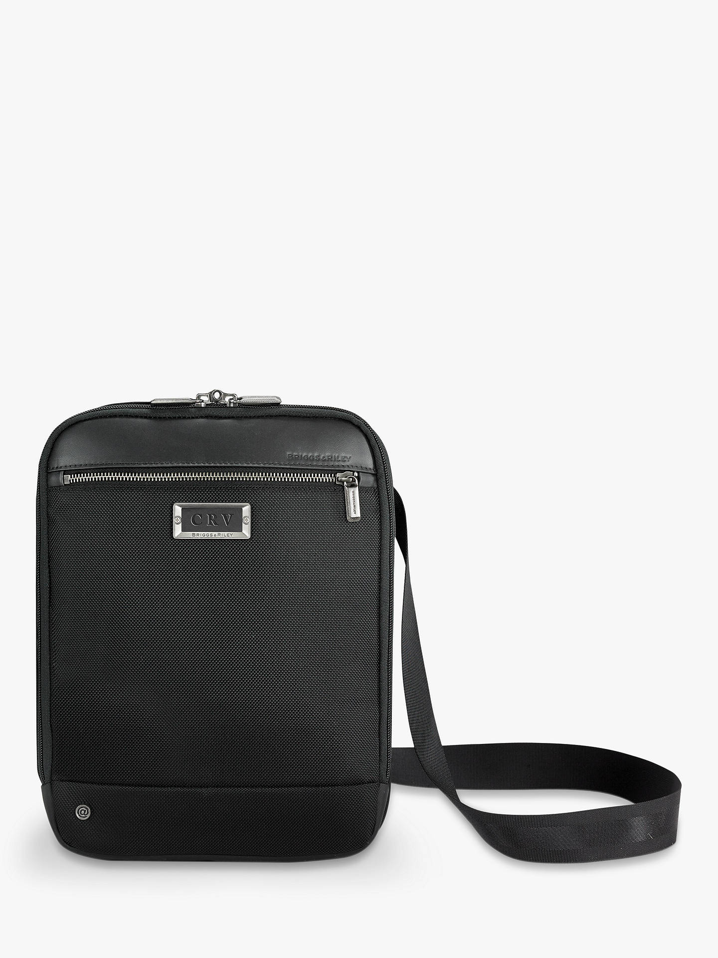 BuyBriggs & Riley AtWork Small Expandable Cross Body Bag, Black Online at johnlewis.com