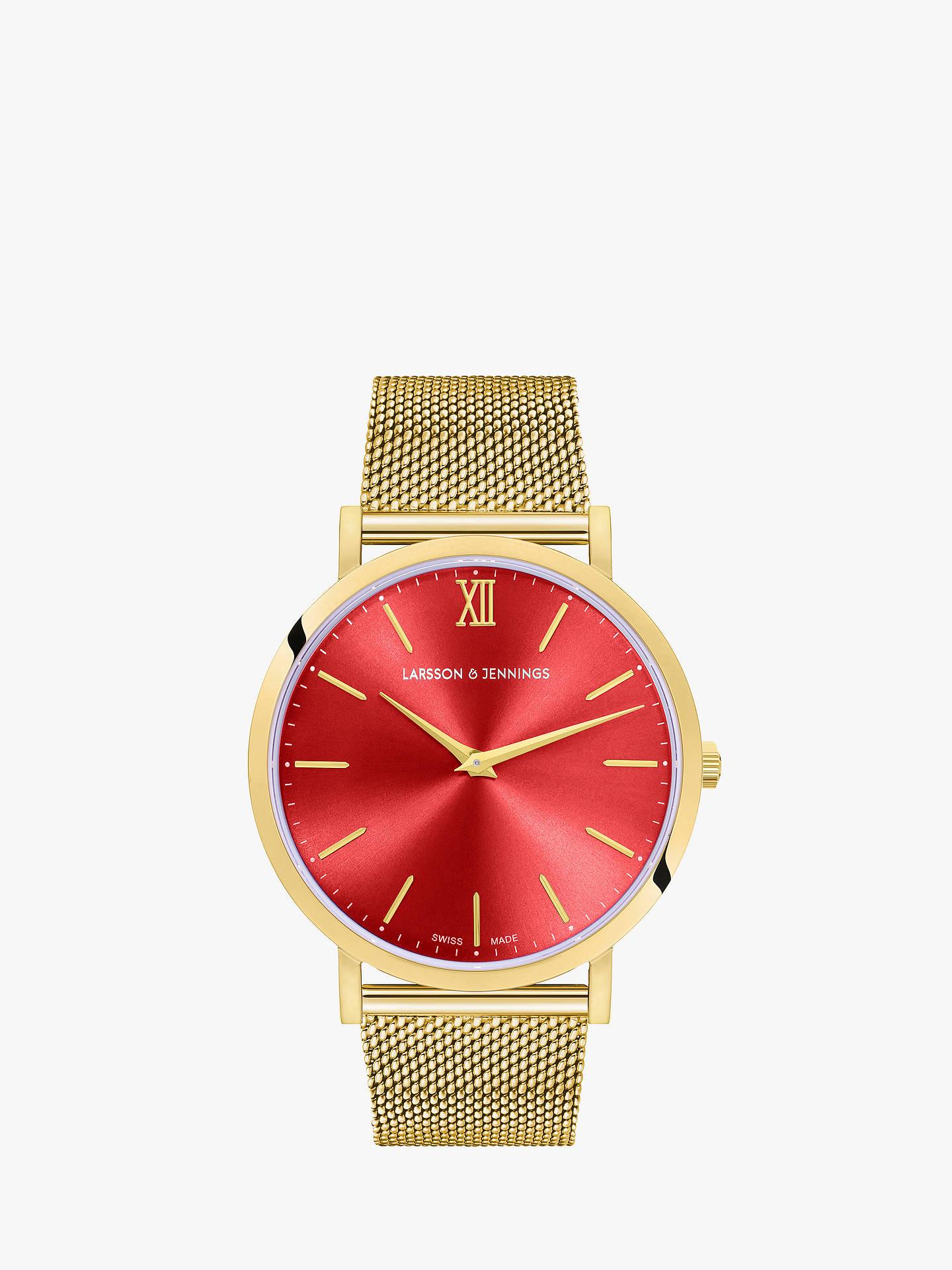4cec0d48e16 Buy Larsson   Jennings LGN40CMGLDCSQPGRO Unisex Lugano Bracelet Strap Watch