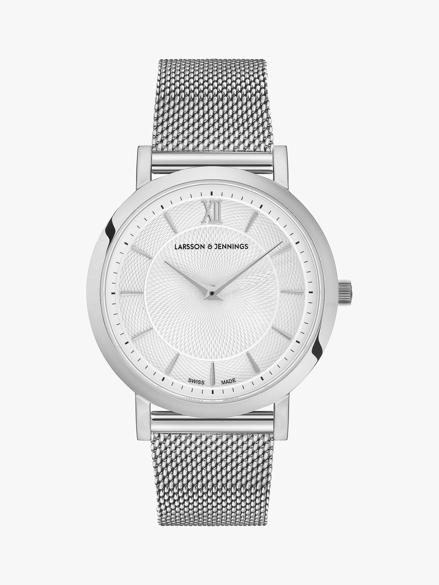 f5e9c3e4be5 Buy Larsson   Jennings LGN33CMSLVCDTQPSWO Women s Lugano Bracelet Strap  Watch