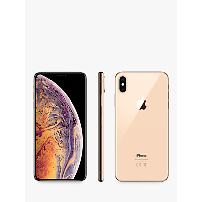 Image of Apple iPhone XS Max, iOS, 6.5, 4G LTE, SIM Free, 256GB