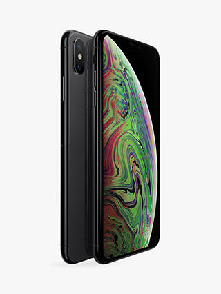 "Buy Apple iPhone XS Max, iOS, 6.5"", 4G LTE, SIM Free, 512GB, Space Grey Online at johnlewis.com"