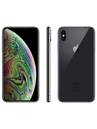 "Buy Apple iPhone XS Max, iOS, 6.5"", 4G LTE, SIM Free, 256GB, Space Grey Online at johnlewis.com"