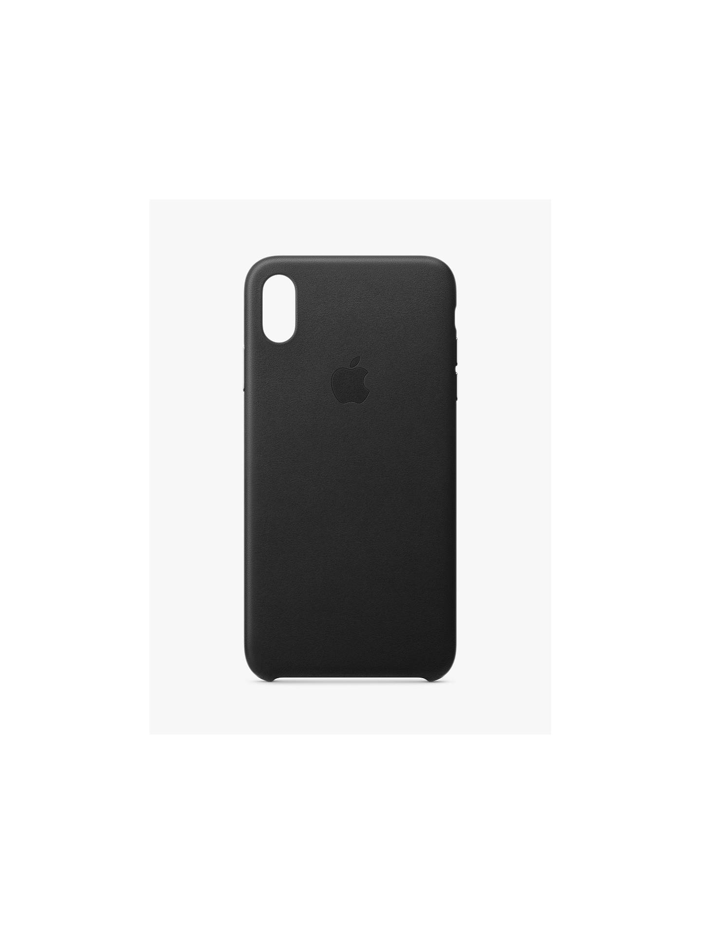half off 55150 dc092 Apple Leather Case for iPhone XS Max, Black