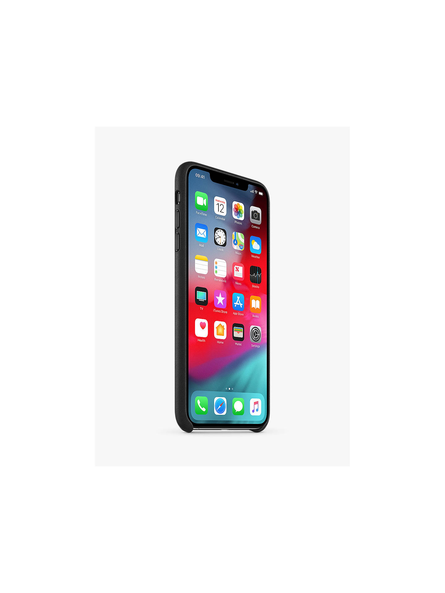 Buy Apple Leather Case for iPhone XS Max, Black Online at johnlewis.com