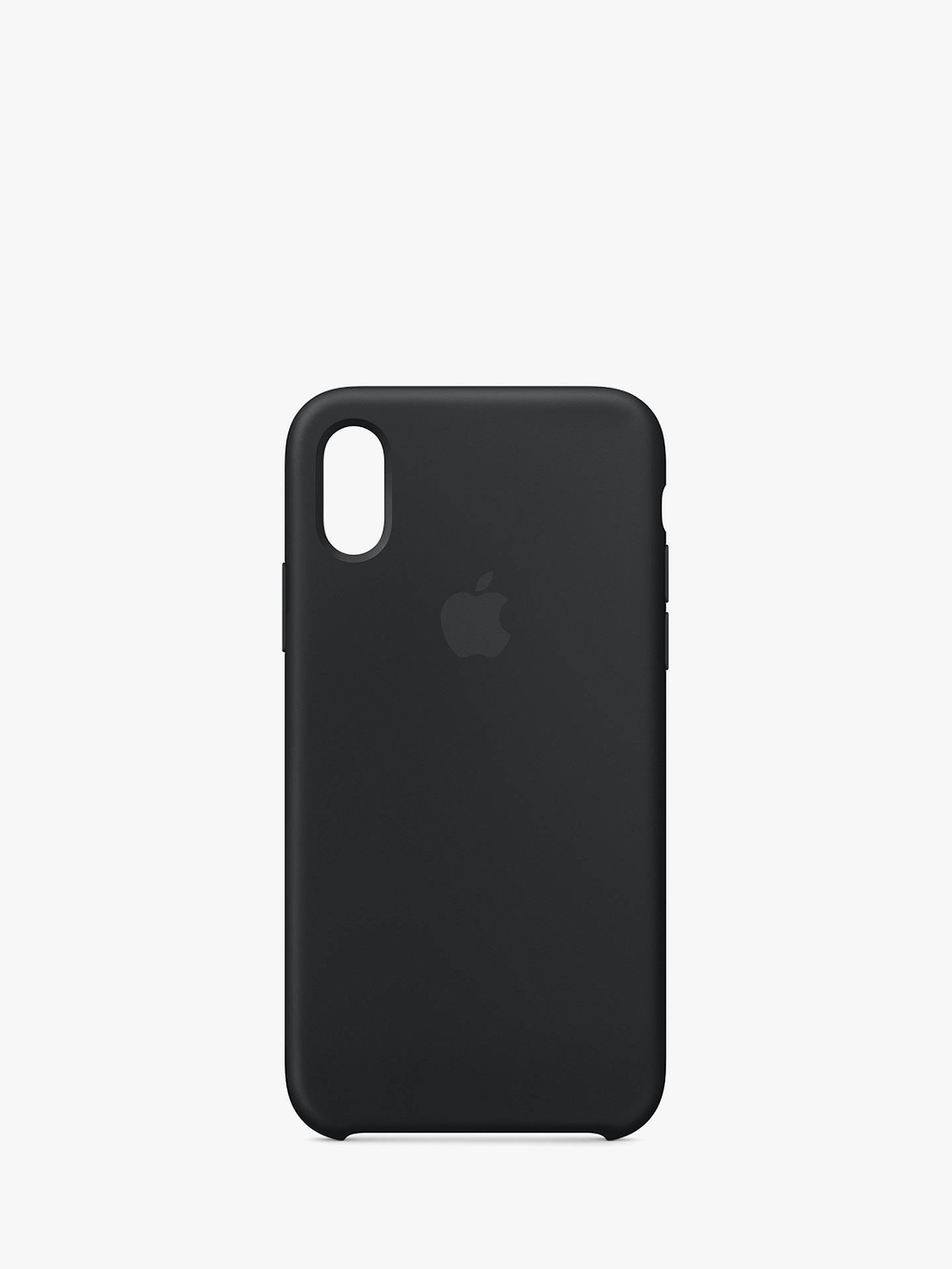 BuyApple Silicone Case for iPhone XS, Black Online at johnlewis.com