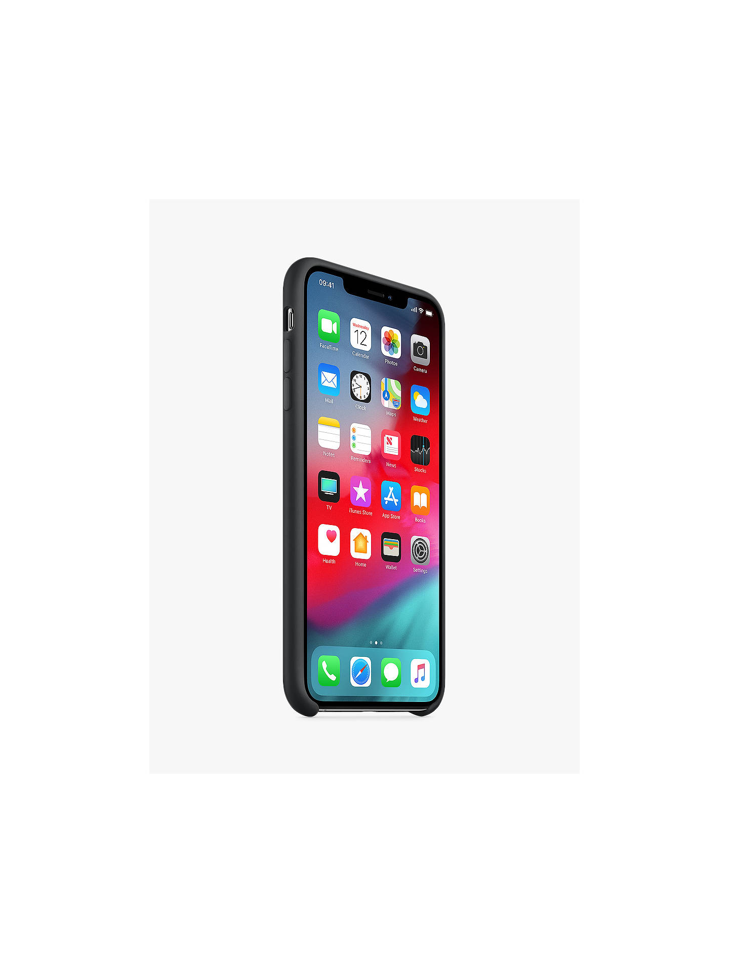 Buy Apple Silicone Case for iPhone XS Max, Black Online at johnlewis.com