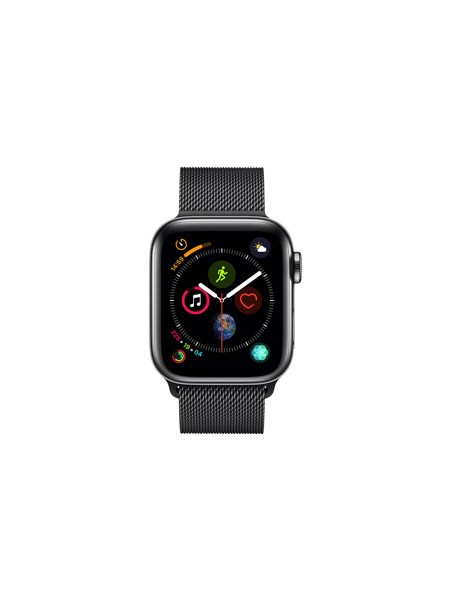Buy Apple Watch Series 4, GPS and Cellular, 40mm Stainless Steel Case with Milanese Loop, Black Online at johnlewis.com