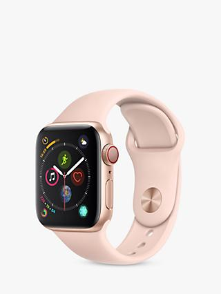Apple Watch Series 4, GPS and Cellular, 40mm Gold Aluminium Case with Sport Band, Pink