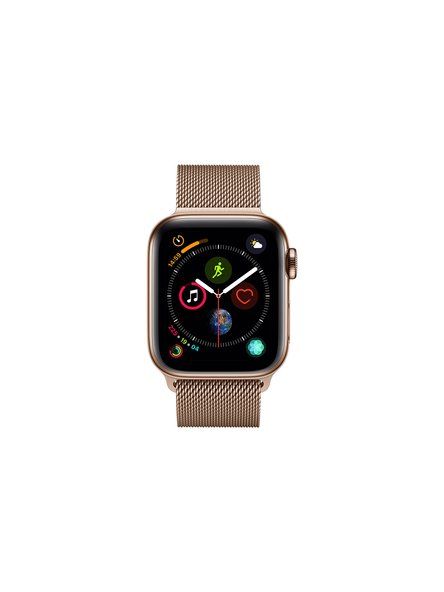 BuyApple Watch Series 4, GPS and Cellular, 40mm Stainless Steel Case with Milanese Loop, Gold Online at johnlewis.com