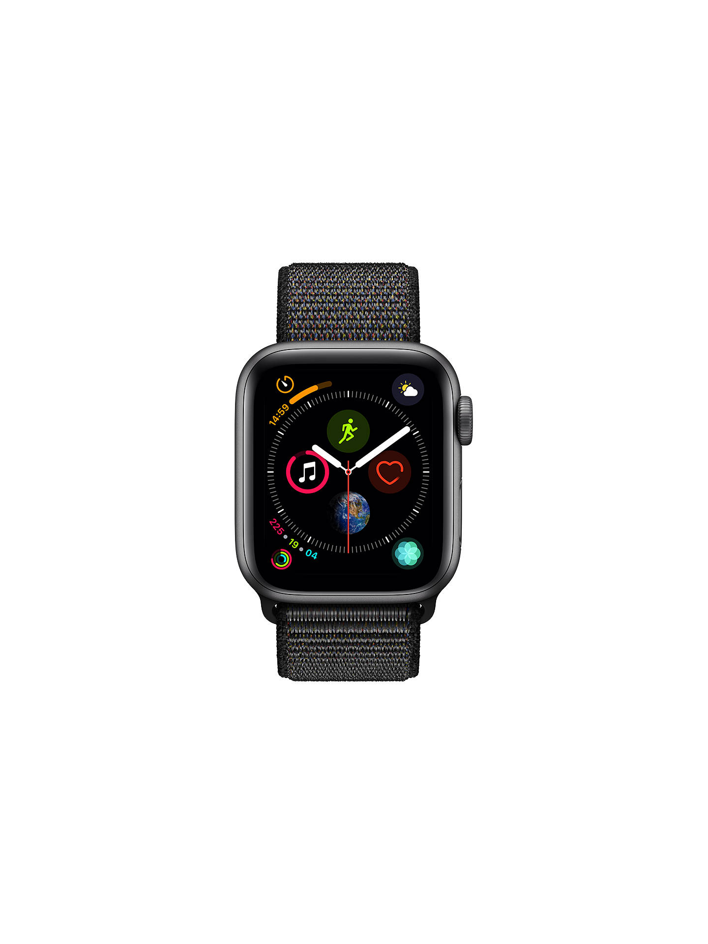BuyApple Watch Series 4, GPS and Cellular, 40mm Space Grey Aluminium Case with Sport Loop, Black Online at johnlewis.com
