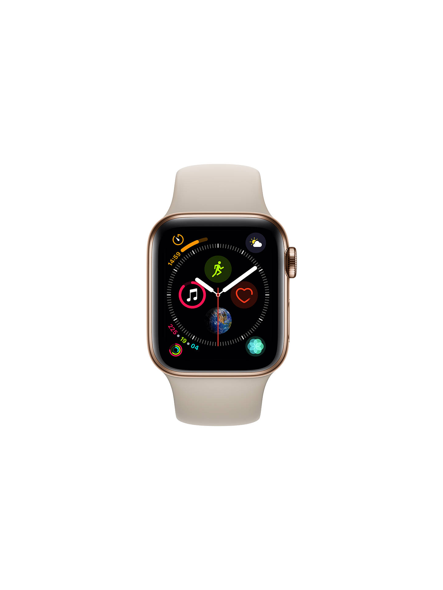 BuyApple Watch Series 4, GPS and Cellular, 40mm Gold Stainless Steel Case with Sport Band, Stone Online at johnlewis.com