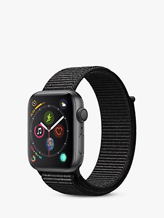 Apple Watch Series 4, GPS, 44mm Space Grey Aluminium Case with Sport Loop, Black