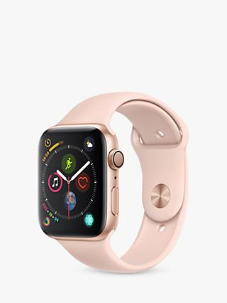 Apple Watch Series 4, GPS, 44mm Gold Aluminium Case with Sport Band, Pink