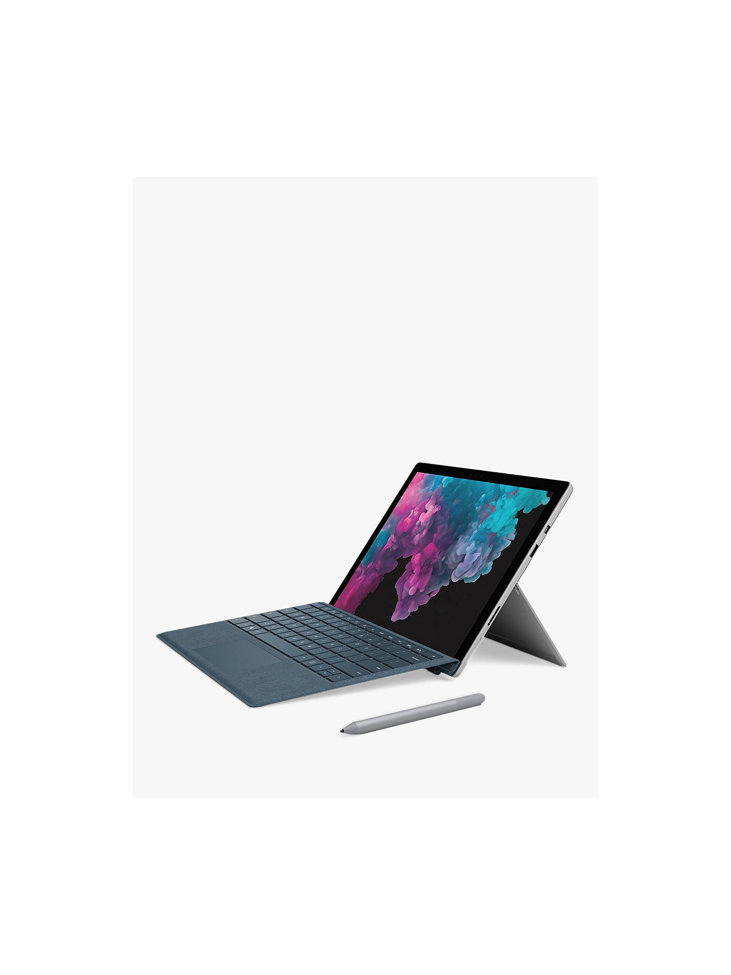 "Buy Microsoft Surface Pro 6 Tablet, Intel Core i7, 16GB RAM, 1TB SSD, 12.3"" Touchscreen, Platinum Online at johnlewis.com"