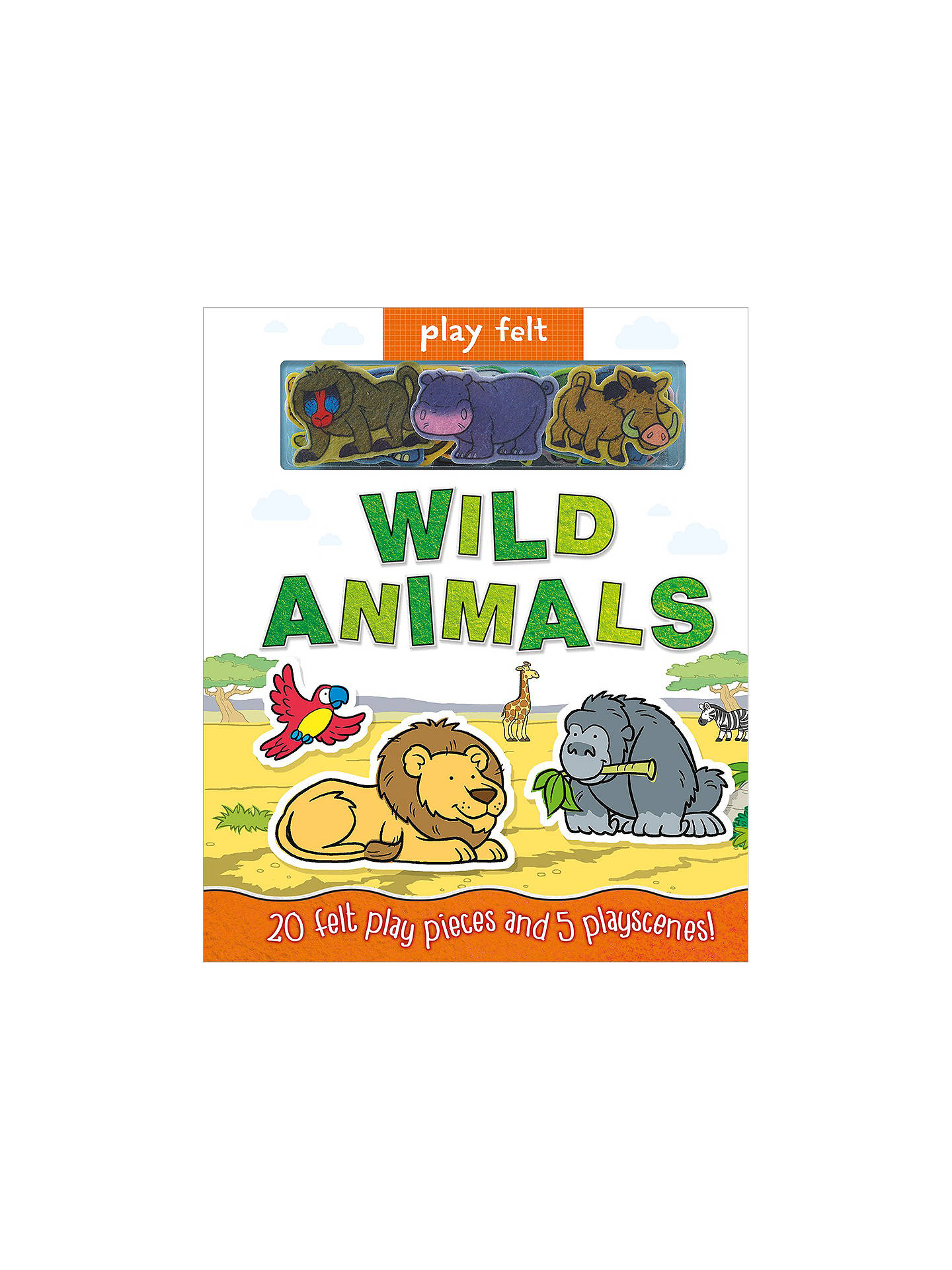 Buy Play Felt Wild Animals Children's Book Online at johnlewis.com
