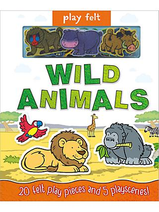 Play Felt Wild Animals Children's Book