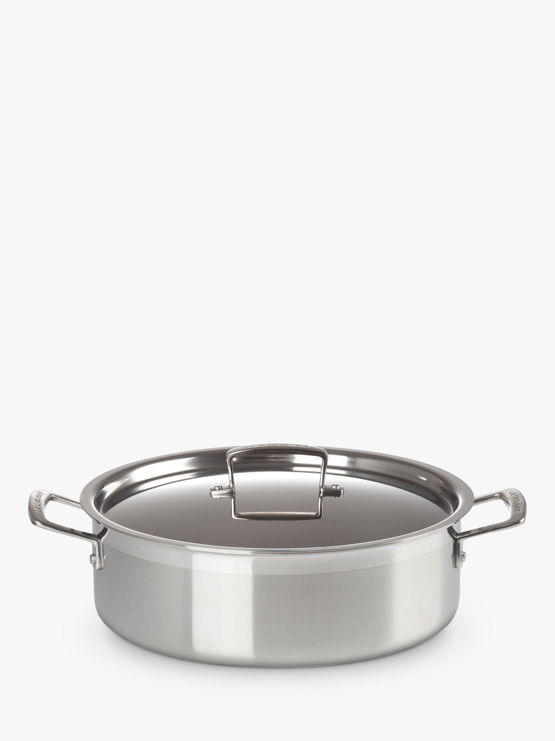 Le Creuset 3-Ply Stainless Steel Sauteuse Saute Pan, 28cm