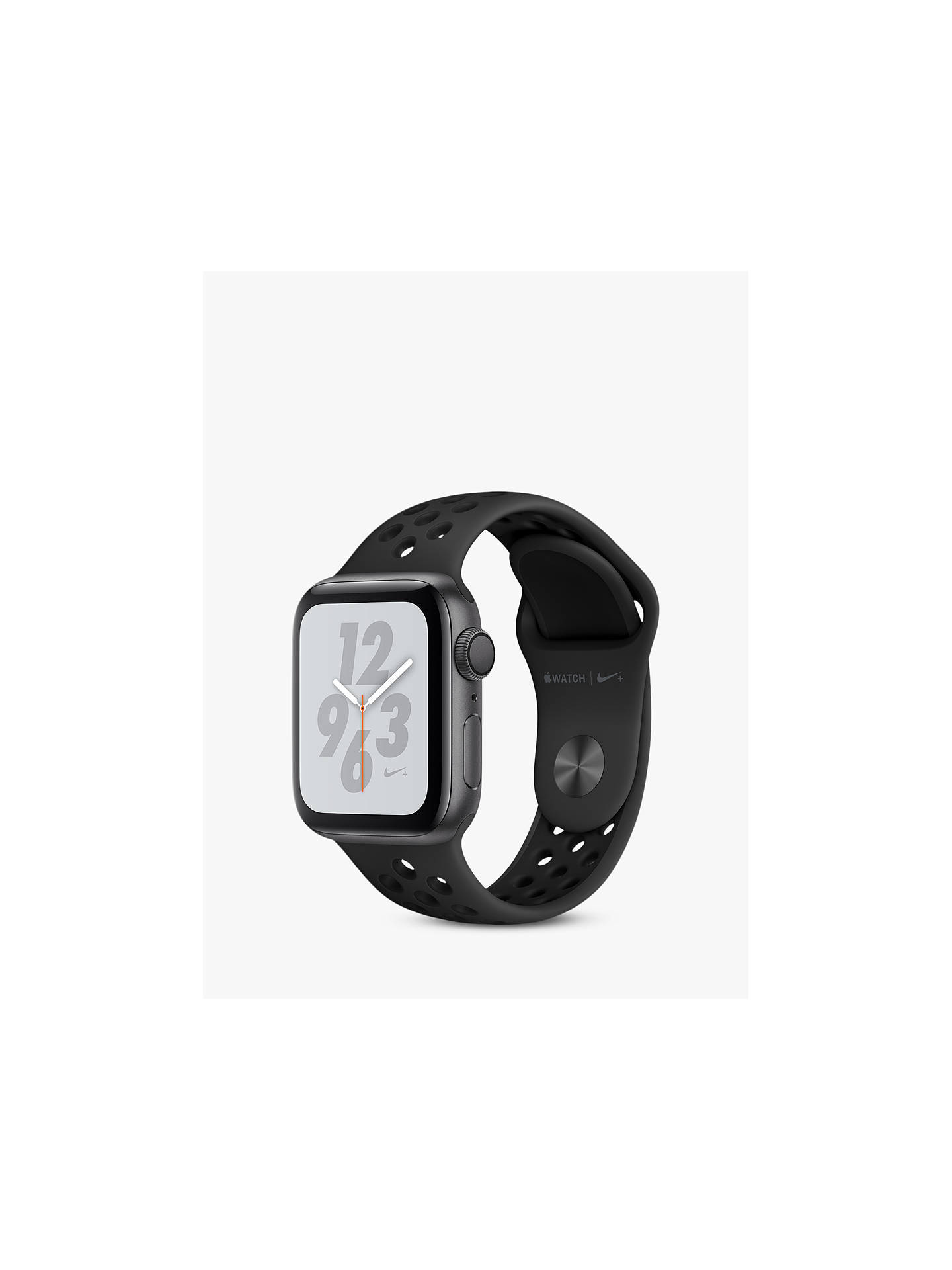 BuyApple Watch Series 4, GPS, 40mm Anthracite Aluminium Case with Nike Sport Band, Black Online at johnlewis.com