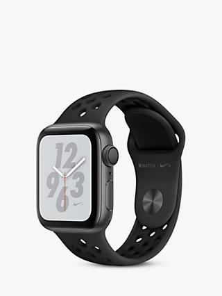 Apple Watch Series 4, GPS, 40mm Anthracite Aluminium Case with Nike Sport Band, Black