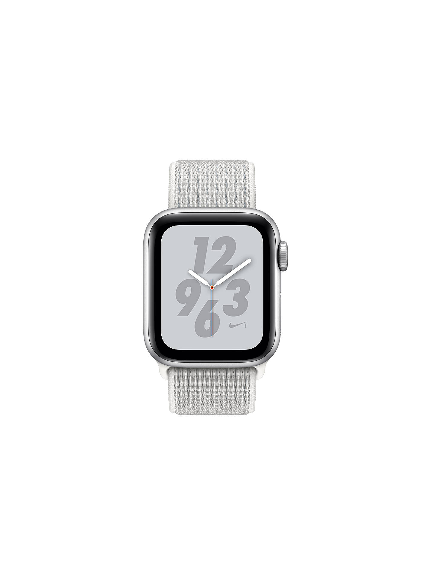 BuyApple Watch Series 4, GPS, 40mm  Aluminium Case with Nike Sport Loop, White Online at johnlewis.com
