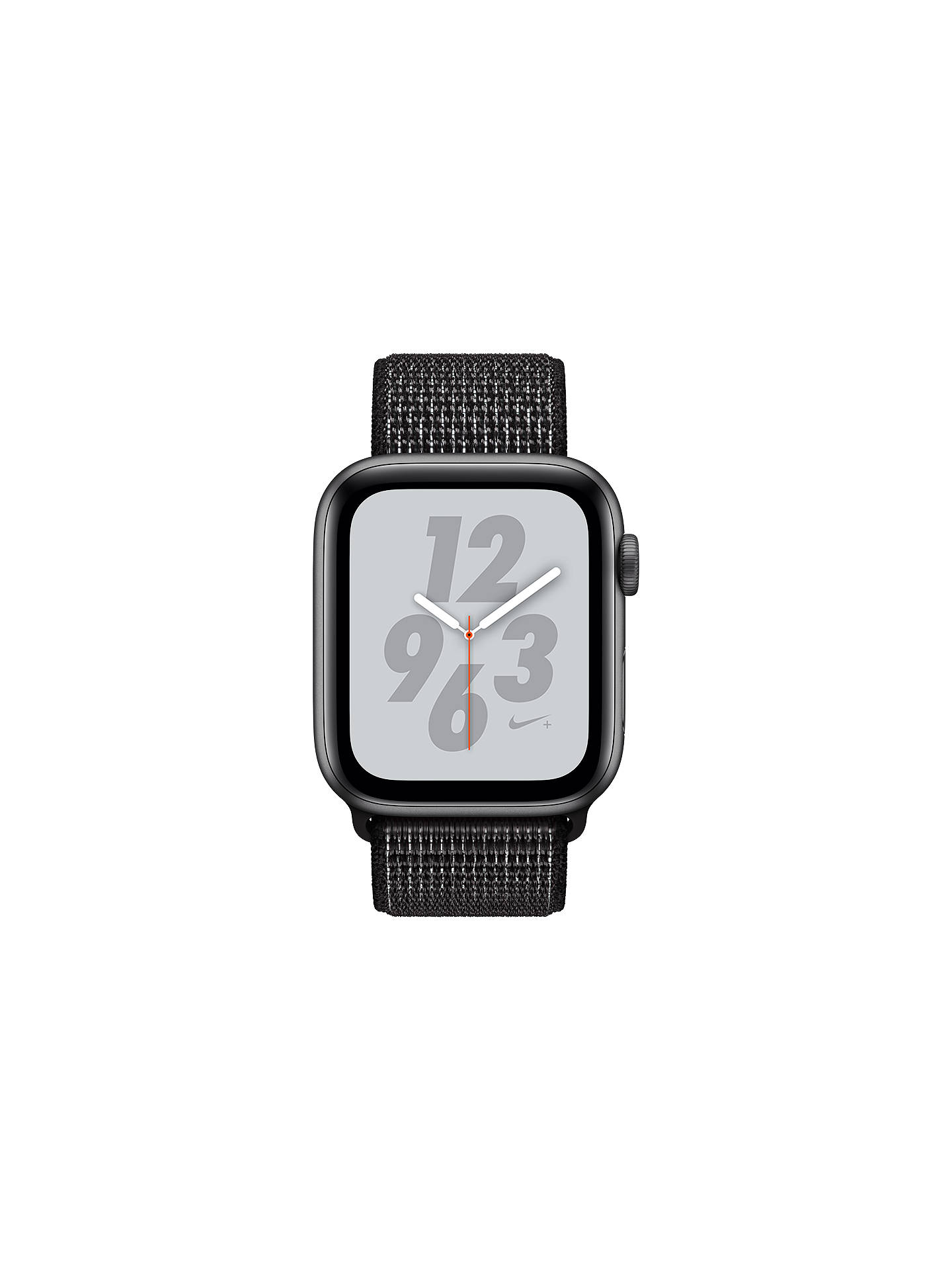 BuyApple Watch Series 4, GPS, 44mm Aluminium Case with Nike Sport Loop, Black Online at johnlewis.com