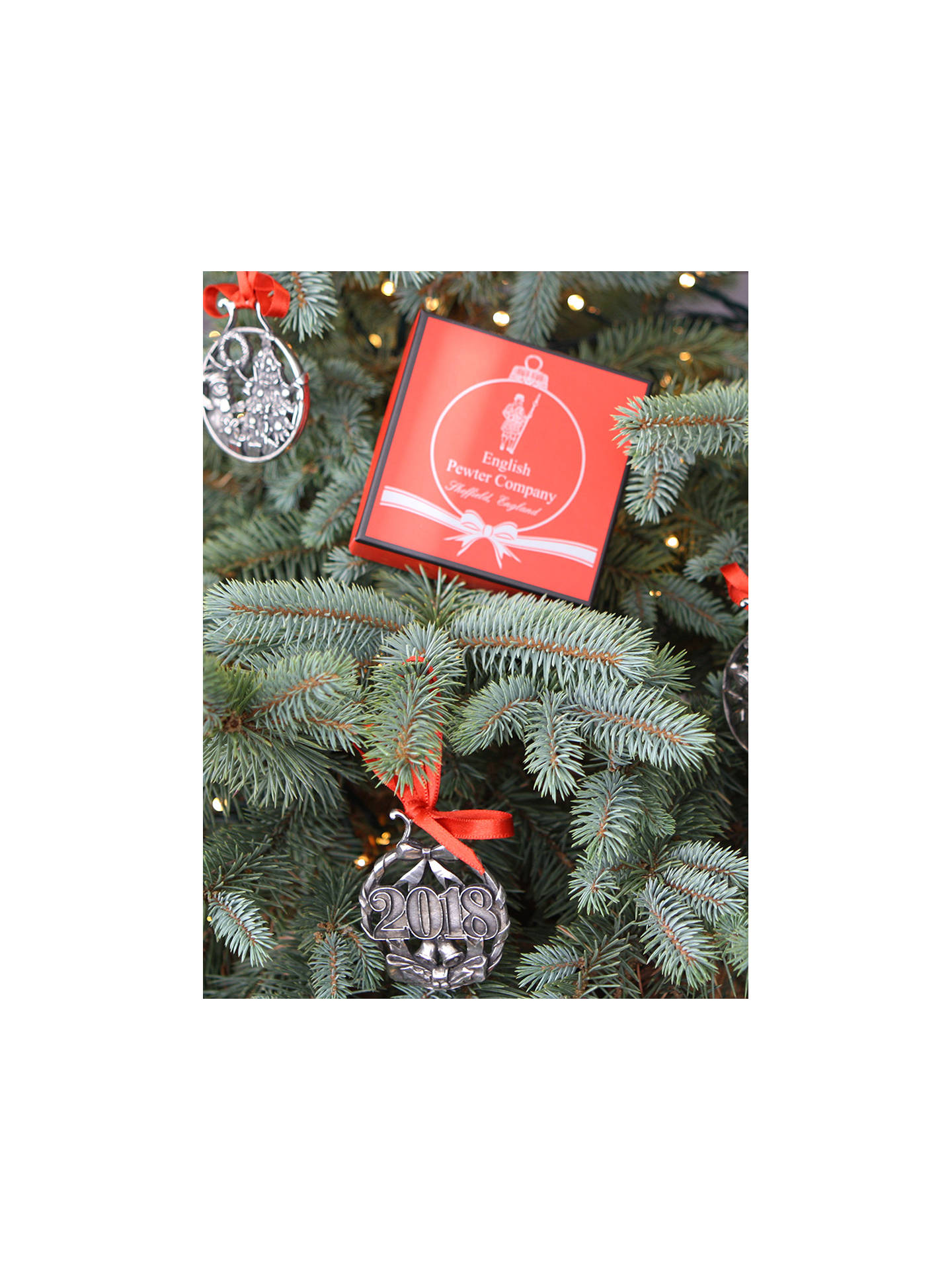 Buy English Pewter Company Baby's First Christmas Tree Decoration Online at johnlewis.com