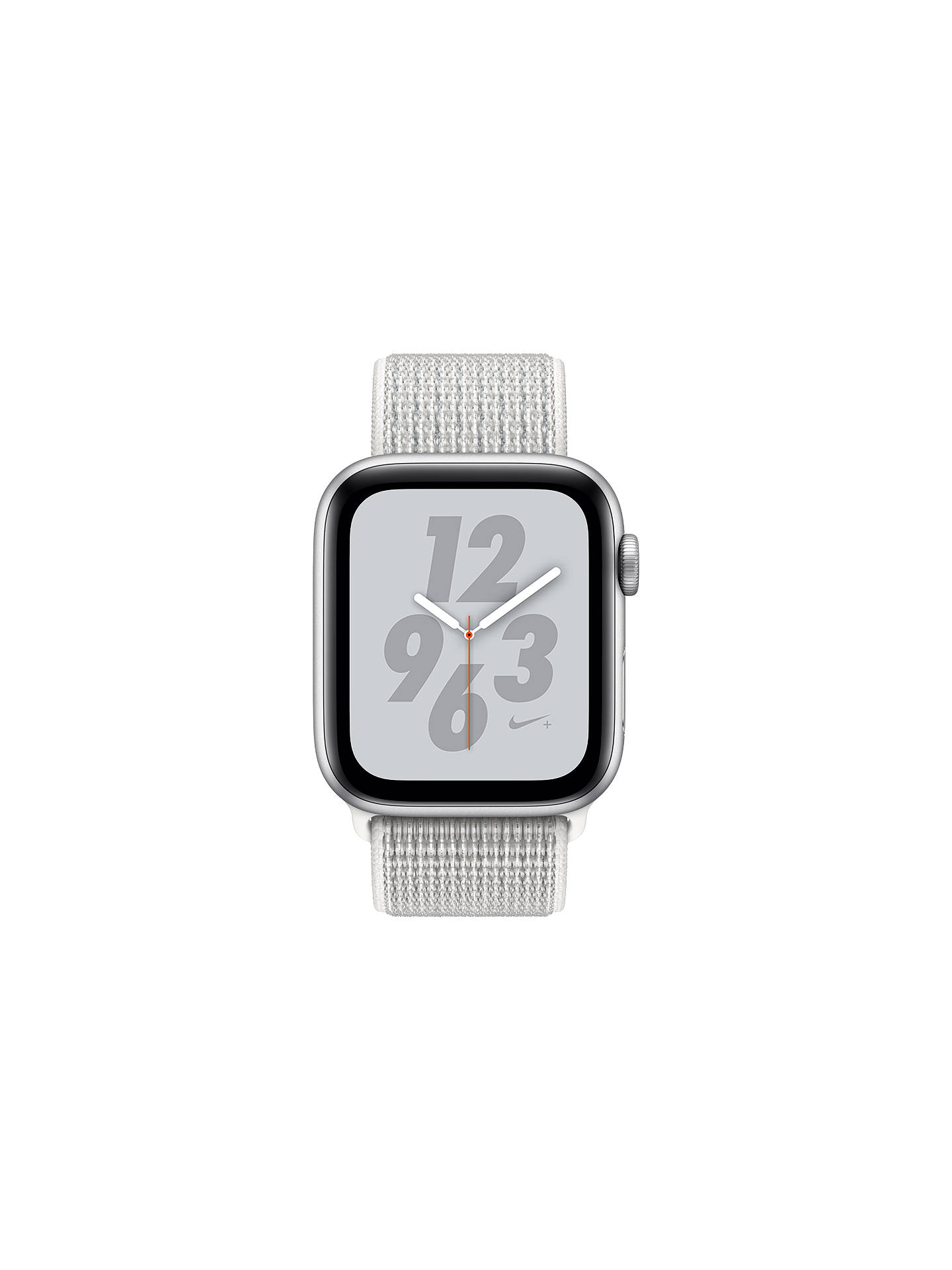 Buy Apple Watch Nike+, Series 4, GPS and Cellular, 44mm Aluminium Case with Nike Sport Loop, White Online at johnlewis.com