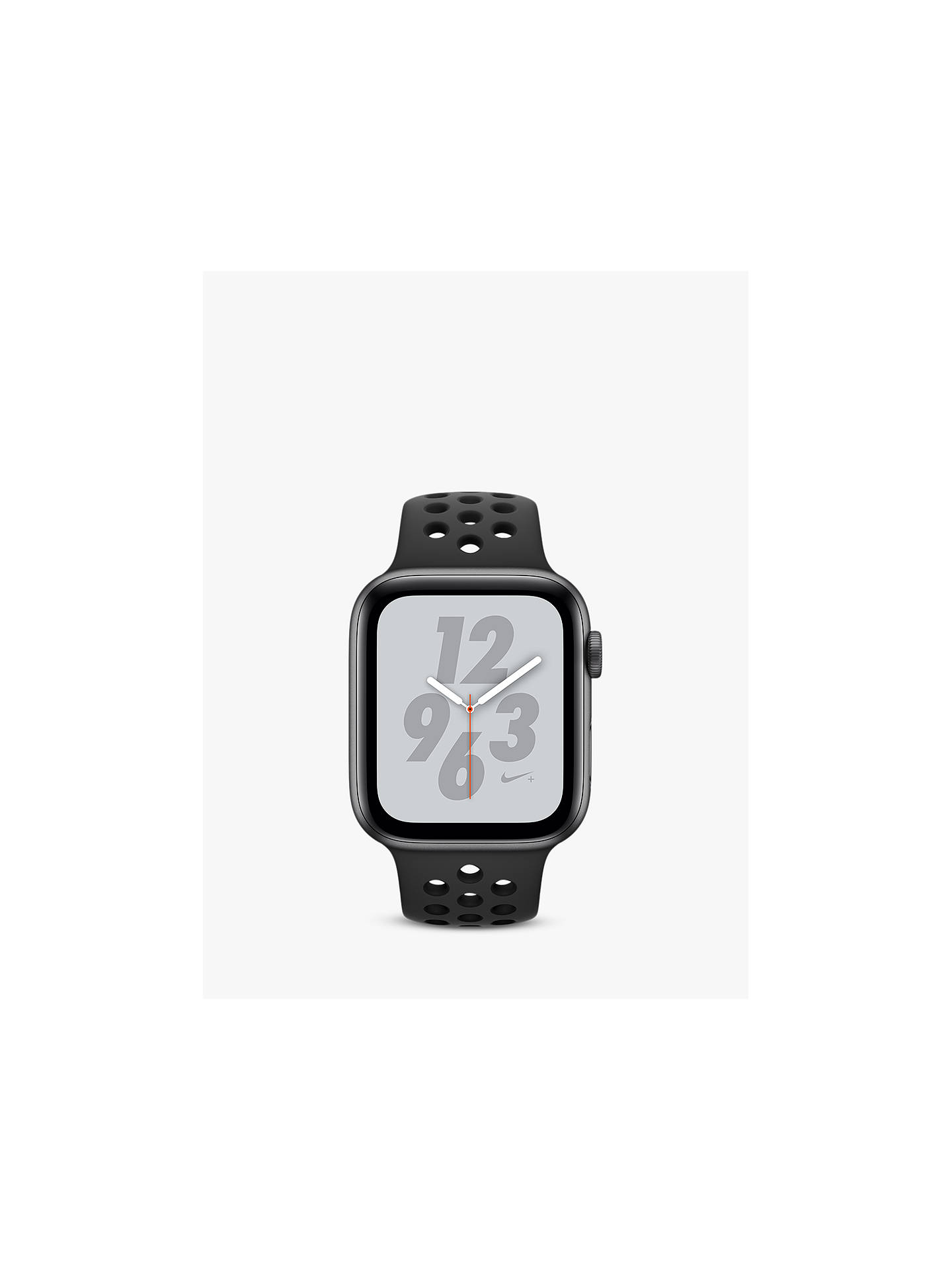 Buy Apple Watch Nike+, Series 4, GPS and Cellular, 44mm Anthracite Aluminium Case with Nike Sport Band, Black Online at johnlewis.com