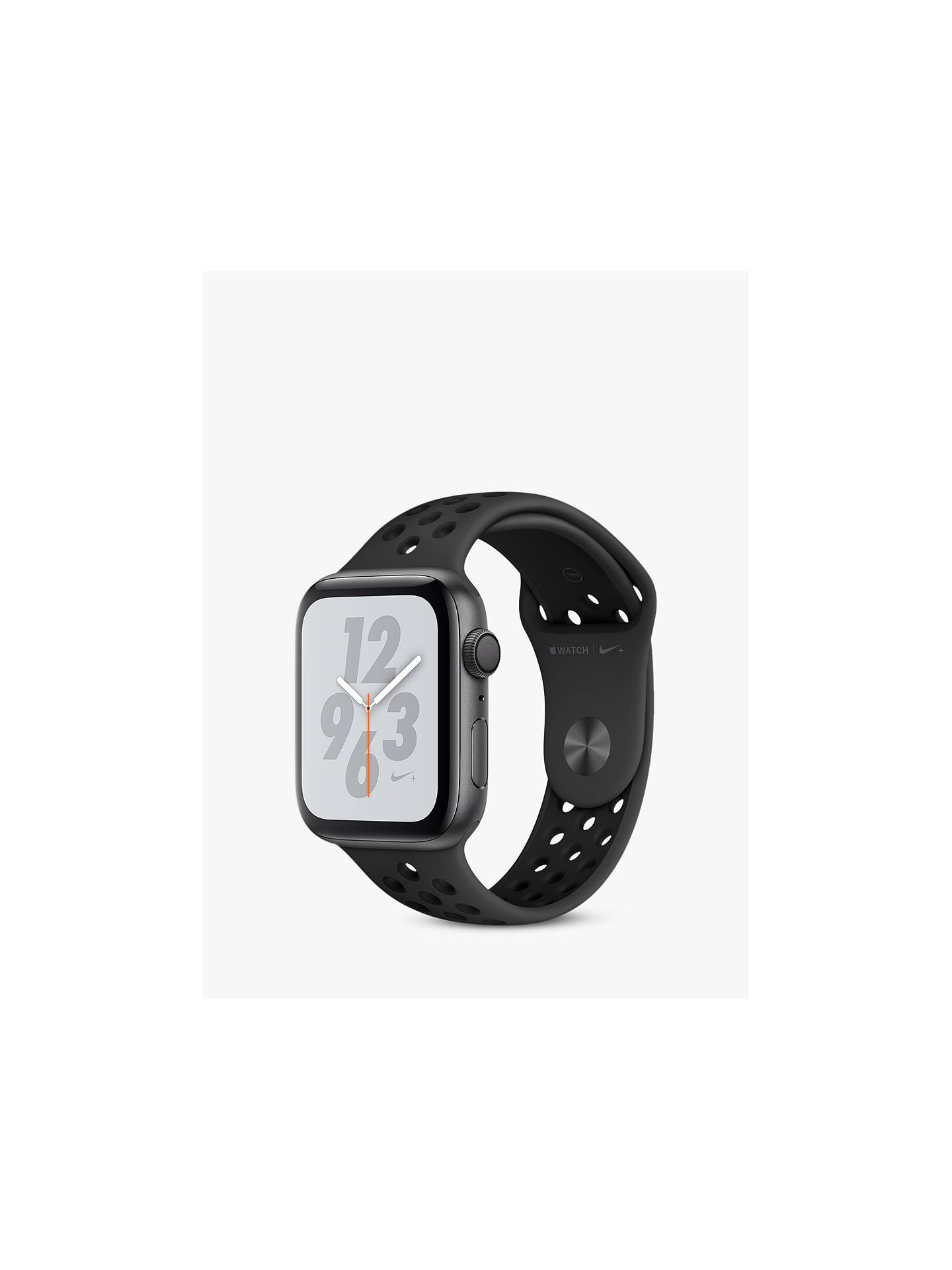Apple Watch Series 4, GPS, 44mm Anthracite Aluminium Case with Nike Sport  Band, Black